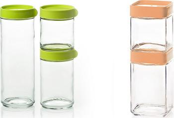 Набор контейнеров Glasslock IG-588 ЗЕЛ. + IG-593 АБРИКОС набор контейнеров для масла и соусов 2 штуки glasslock ig 662