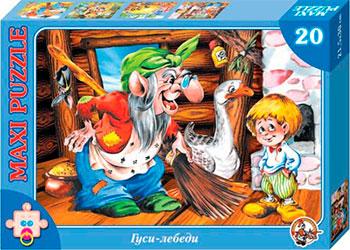 Настольная игра пазл макси Десятое Королевство Гуси лебеди (20 деталей) настольная игра русский стиль ходилка гуси лебеди 03047