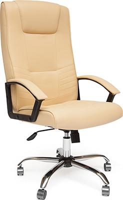 Офисное кресло Tetchair MAXIMA (хром кож/зам Бежевый PU C 36-34) цветы 16 обучающих карточек