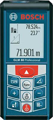 Лазерный дальномер Bosch GLM 80 0601072300 лазерный дальномер уклономер bosch glm 80 0 601 072 300