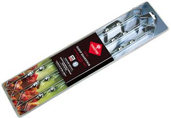 Набор шампуров Forester Набор шампуров малых в блистере 6 шт. никелированная сталь набор плоских шампуров 55см 6 шт в упак boyscout 61264