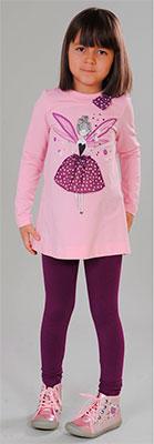 Туника Fleur de Vie 24-2420 рост 98 розовый лосины fleur de vie 24 1723 рост 98 м волна
