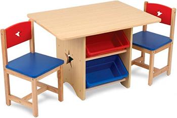Набор мебели KidKraft ''Star'' (стол 2 стула 4 ящика) 26912_K игровой набор kidkraft стол и 2 стула модерн белый