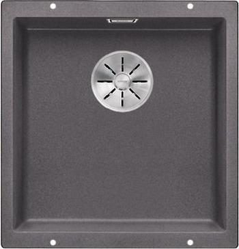 Кухонная мойка Blanco SUBLINE 400-U SILGRANIT темная скала с отв.арм. InFino 523423