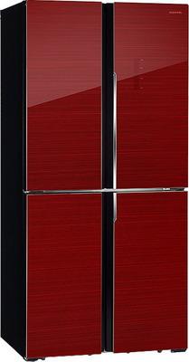 Многокамерный холодильник Hiberg RFQ-490 DX NFGR холодильник hiberg rfc 311dx nfgr двухкамерный красное стекло