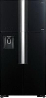 лучшая цена Холодильник Side by Side Hitachi R-W 662 PU7X GBK чёрное стекло