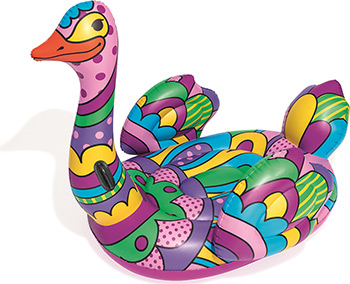 Надувная игрушка-наездник BestWay Страус Поп-арт 41117 BW