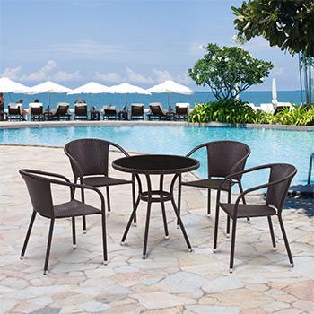 Комплект мебели Афина T 282 ANS/Y 137 C-W 53 Brown 4Pcs