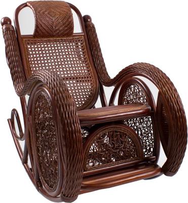 Кресло-качалка RattanDesign ALEXA МИ с подушкой JC-3058 цвет Орех кресло качалка плетёное rc 8001 гобелен доступные цвета орех кресло качалка