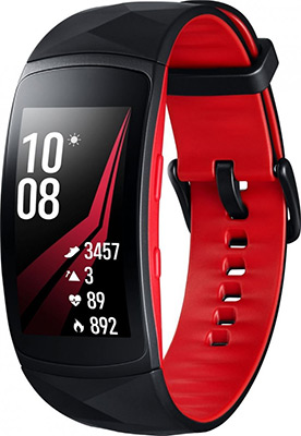 Часы Samsung GearFit2 PRO SM-R 365 N черно-красный (L) все цены