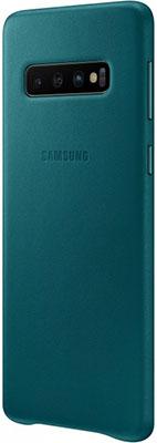 Чехол (клип-кейс) Samsung S 10 (G 973) LeatherCover green EF-VG 973 LGEGRU