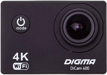 лучшая цена Экшн-камера Digma DiCam 400 черный