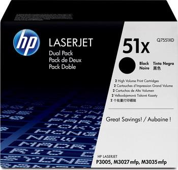 Набор картриджей HP Q 7551 XD Черный