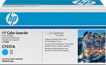 Картридж HP CF 031 A Голубой