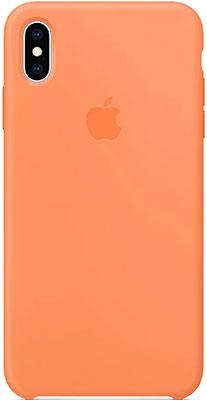 цена Силиконовый чехол Apple Silicone Case для iPhone XS Max цвет (Papaya) свежая папайя MVF72ZM/A онлайн в 2017 году
