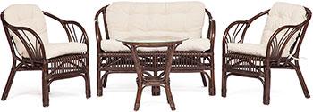 Комплект Tetchair NEW BOGOTA (диван 2 кресла стол со стеклом) 12107