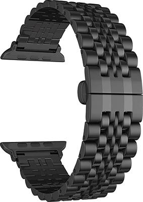 Фото - Ремешок для часов Lyambda из нержавеющей стали для Apple Watch 38/40 mm CASTOR DS-APG-04-40-BK Black смотреть ремешок ремешок весна бар ссылка pin remover ремонт инструмента из нержавеющей стали