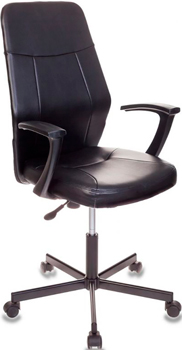 Кресло Бюрократ CH-605/BLACK черный кресло бюрократ ch 605 на колесиках искусственная кожа черный [ch 605 black]