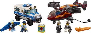 Конструктор Lego CITY Воздушная полиция: кража бриллиантов 60209 конструктор lego city police воздушная полиция патрульный самолет 60206