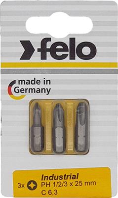 Набор бит Felo PH 1/PH 2/PH 3X25 02293116