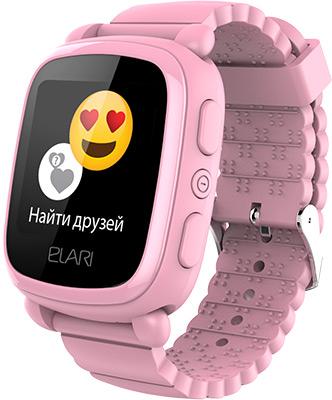 лучшая цена Детские часы с GPS поиском Elari KidPhone 2 розовые ELKP2PNKRUS