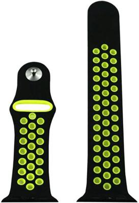 Ремешок спортивный Eva для Apple Watch 38mm Черный/Зеленый (AVA012BG) ремешок спортивный eva для apple watch 38mm белый желтый ava012wy