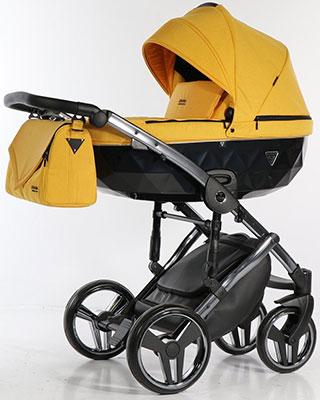 коляски 2 в 1 Коляска детская 2 в 1 Junama SAPHIRE JSH-05 (желтый/ рама серебро) JSH-05