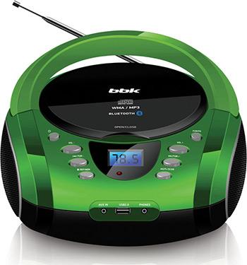 цена на Магнитола BBK BX165BT черный/зеленый