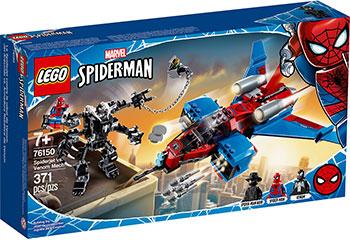 Конструктор Lego Super Heroes Реактивный самолёт Человека-Паука против Робота Венома 76150 конструктор lego super heroes mighty micros 76070 чудо женщина против думсдэя