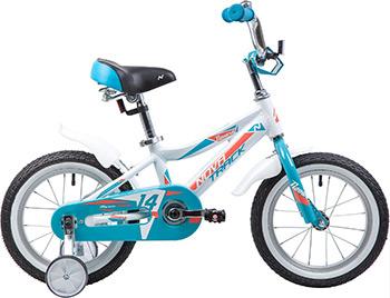 Велосипед Novatrack 14'' NOVARA алюм. белый тормоз нож короткие крылья нет багажника