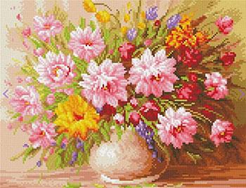 Фото - Алмазная мозаика Цветной ''Букет нежных цветов'' (40х50) на подрамнике lg104 алмазная мозаика цветной букет нежных цветов 40х50 на подрамнике lg104