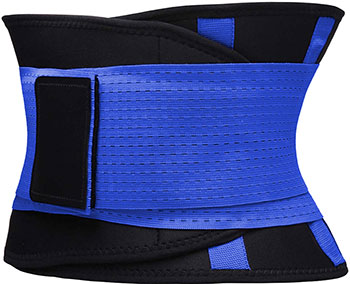 Фитнес пояс для похудения CleverCare синий  размер XL  TX-LB033L