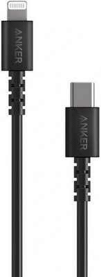 Фото - USB кабель ANKER PowerLine Select USB-C Cable with Lightning connector 90 см Black A8612H11 usb кабель anker powerline select usb c cable with lightning connector 90 см black a8612h11