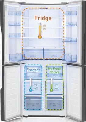 Многокамерный холодильник HISENSE RQ 56 WC4SAB холодильник hisense rq 81wc4sac