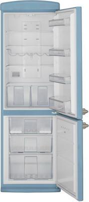цена Двухкамерный холодильник Schaub Lorenz SLUS 335 U2 небесно-голубой онлайн в 2017 году