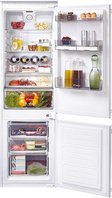 Встраиваемый двухкамерный холодильник Candy CKBBS 172 FT встраиваемый холодильник candy ckbbs 172 f