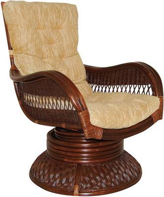 Кресло-качалка Tetchair ANDREA Relax Medium с подушкой (античный орех) 9093