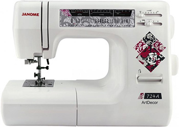 Швейная машина Janome, ArtDecor 724а, Тайвань  - купить со скидкой