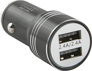 Автомобильное зарядное устройство Red Line Tech 2 USB (модель AC-5) 2.4А черный автомобильное зарядное устройство red line 2usb c20 2 1а ут000010219 черный