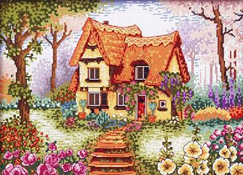 Вышивка 14ст,16ст Белоснежка 1898-14 Сказочный домик