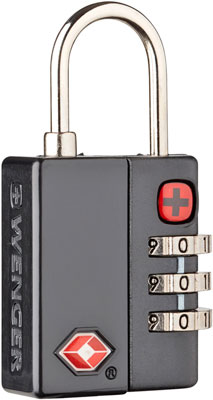 Замок кодовый Wenger черный цинковый сплав и AБС-пластик 3 3 x 1 3 x 6 2 см 604563 кулон родонит прямоугольник биж сплав 6 5 см