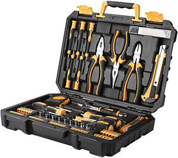 Фото - Универсальный набор инструмента для дома и авто в чемодане Deko TZ82 (82 предмета) набор инструментов deko tz82 82 предм черный желтый