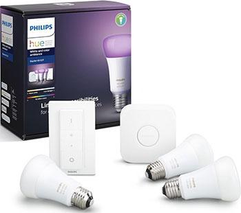 Комплект умных ламп Philips Hue Starter Kit E27 Color (929002216825)
