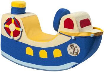 Детская качалка Paremo ''Кораблик'' синий