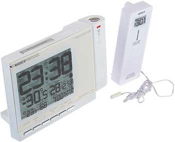 Проекционные часы с измерением температуры RST 32764 слоновая кость