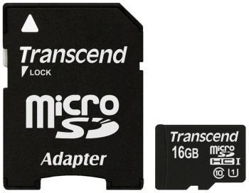 Карта памяти Transcend micro SDHC 16 Gb class 10 UHS-I с адаптером (TS 16 GUSDU1) карта памяти micro sdhc transcend ultimate 600x 16gb class 10 uhs i
