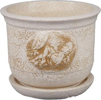Горшок с поддоном ФИТОКЕРАМИКА Афина горшок фитокерамика тюльпан 2 1224