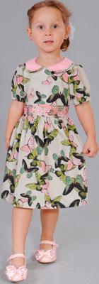 Платье Fleur de Vie Арт. 14-7840 рост 98 бежевый фото