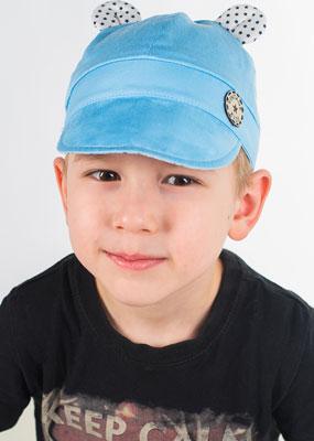 Кепка Vintage Зай Ушка голубой р.50-52 ползунки для мальчика совенокя совята цвет голубой 2 370 размер 74