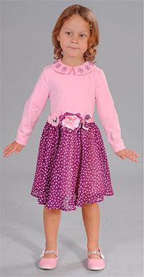 Платье Fleur de Vie 24-2440 рост 104 розовый стоимость